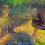 Maria mit Hund und Krähe