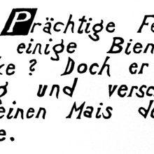 "Wv 207 ""Schriftblatt P"""